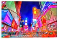 Times Square Pop Art, Acrylic Print