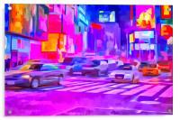 Pop Art Times Square , Acrylic Print