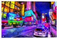 Times Square Van Gogh , Acrylic Print