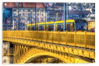 Margaret Bridge Budapest, Acrylic Print
