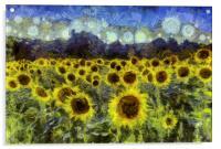Van Gogh Sunflowers, Acrylic Print