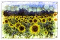 Sunflowers Van Goth, Acrylic Print