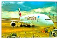 Emirates A380 Airbus Pop Art, Acrylic Print
