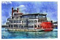 New Orleans Paddle Steamer Art, Acrylic Print