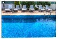 Summer Swimming Pool, Acrylic Print