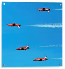 Red Arrows inverse, Acrylic Print