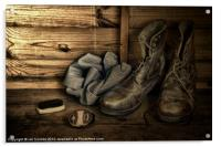 OLD BOOTS, Acrylic Print