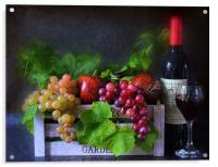 fruit and wine, Acrylic Print