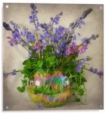 spring garden flowers, Acrylic Print