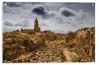 Belchite ruins. Spain, Acrylic Print