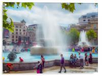 Trafalgar Square London, Acrylic Print