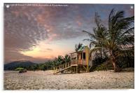 Tropical Sunset, Acrylic Print