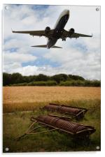 Plane Over Cornfield, Acrylic Print