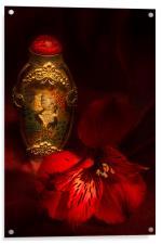 Oriental Snuff Bottle and Alstroemeria, Acrylic Print