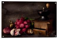 Garlic and Radishes, Acrylic Print