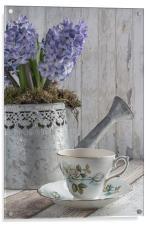 Hyacinth Teatime, Acrylic Print
