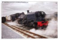 Steam Engine in Porthmadog, Acrylic Print