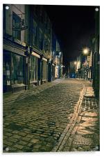 Whitby Street at Night, Acrylic Print