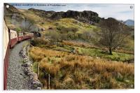 Steaming from Caernarfon to Porthmadog 2, Acrylic Print