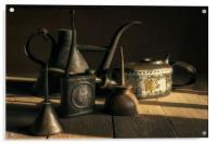 Oil Cans in the Sun, Acrylic Print