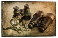 Steampunk Travel Plans, Acrylic Print