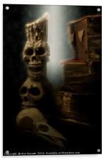 Skulls and Old Books, Acrylic Print