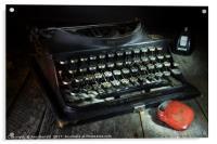 Dusty Old Typewriter, Acrylic Print