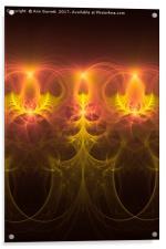 Fractal Fireworks, Acrylic Print