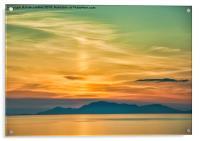 Sunset over The Isle of Harris, Acrylic Print