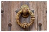 Antique door knockers, Acrylic Print