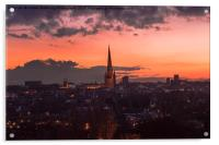 Norwich City At Night, Acrylic Print