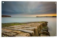Sunrise at Swanage, Acrylic Print