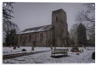 Dunkirk Church In Winter, Acrylic Print