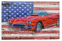 All American Beauty, Acrylic Print