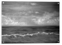 Summer Dreams in black and white, Acrylic Print