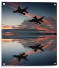 Tornado GR4 sunset, Acrylic Print