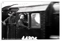 Train Drivers, Acrylic Print
