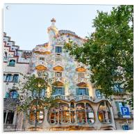 Casa Batllo Building in Barcelona, Acrylic Print
