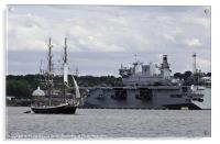 Tall Ship & HMS Ocean, Acrylic Print