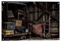 Railway Storage Shed, Acrylic Print