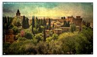 The Alhambra Granada, Acrylic Print