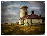 Nash Point Lighthouse Low Tower, Acrylic Print