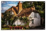 A Chiltern Cottage, Acrylic Print