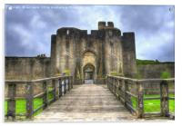 Caerphilly Castle Gatehouse, Acrylic Print