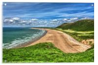 Rhossili Bay On The Gower Peninsula, Acrylic Print