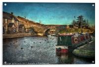 Brecon Canal Basin in Winter, Acrylic Print