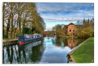 The Kennet At West Mills Newbury, Acrylic Print