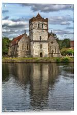 Bisham Church Reflected, Acrylic Print