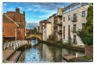 The Kennet And Avon In Newbury, Acrylic Print