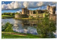 Caerphilly Castle Moat, Acrylic Print